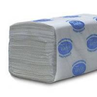 Бумажные полотенца листовые, V-укладка, макулатурные р121.