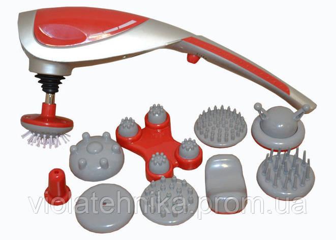 Ручной вибромассажер 9 режимов 10 насадок Zenet ZET-718, фото 2