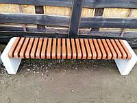 Лавка скамейка дерево бетон