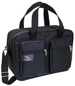 Мужская сумка через плечо крепкая удобная портфель А4 в2610 черная 32х24х10см