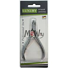 Luxury Кусачки KM-01 профессиональные маникюрные сталь для кутикулы 6мм, фото 3