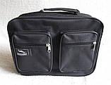 Мужская сумка через плечо прочная бюджетная папка портфель А4 в2611 черная 32х24х10см, фото 2