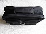 Мужская сумка через плечо прочная бюджетная папка портфель А4 в2611 черная 32х24х10см, фото 3