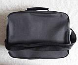 Мужская сумка через плечо прочная бюджетная папка портфель А4 в2611 черная 32х24х10см, фото 4