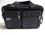 Мужская сумка через плечо очень удобная папка портфель А4 в2620 черная  35х24х10см, фото 4