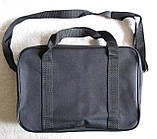 Мужская сумка через плечо очень удобная папка портфель А4 в2620 черная  35х24х10см, фото 6