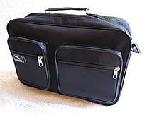 610cc9a09e84 Мужская сумка Wallaby 2621 черная барсетка через плечо папка портфель А4  35х24х10см
