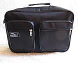 Мужская сумка через плечо дешевая, но качественная папка портфель А4 в2621 черная 35х24х10см, фото 2