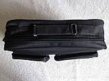 Мужская сумка через плечо дешевая, но качественная папка портфель А4 в2621 черная 35х24х10см, фото 4