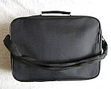 Мужская сумка через плечо дешевая, но качественная папка портфель А4 в2621 черная 35х24х10см, фото 5