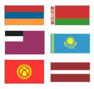 Государственные флаги стран СНГ и Балтики (двухсторонние)