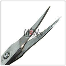 Luxury Ножницы HM-09 маникюрные для кутикулы черные изогнутые зауженные 22мм, фото 3