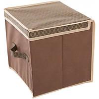 Кофр - короб 30 x 30 x 30 см коричневый