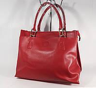 Кожаная женская средняя сумка, саквояж  Voee Vodd 2318 красный