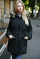 Куртка-парка с искусственным мехом енота
