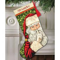 """Набор для вышивания крестом """"Секрет Санты//Secret Santa Stocking"""" DIMENSIONS"""