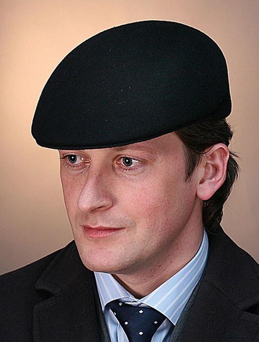 Мужская кепка из фетра из натуральной шерсти