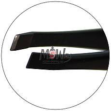Luxury Пинцет P-14 для бровей профессиональный (прямой) черный, фото 3