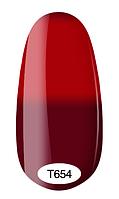 Термо гель-лак Kodi Professional №654, (темный бордовый, при нагревании - красный), 8 мл