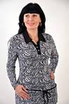 Блуза  батник рубашка трикотаж женская черно-белая Бл 033427 туника, фото 2