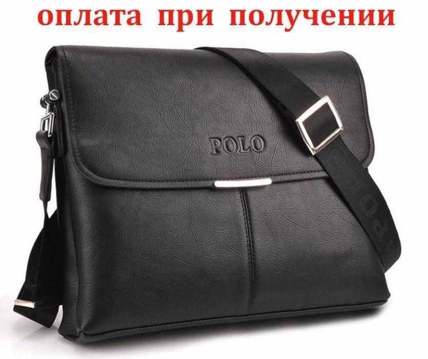 1df150a0c766 Мужская кожаная брендовая сумка POLO A4 (формат А4) -