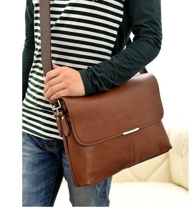 206fdac43a13 Мужская кожаная брендовая сумка POLO A4 (формат А4): продажа, цена в ...