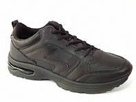 Кроссовки мужские чёрные на шнурках К-0001 распродажа спортивной обуви
