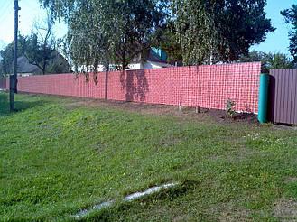 Забор из профнастила под кирпич (Киевская область) 4