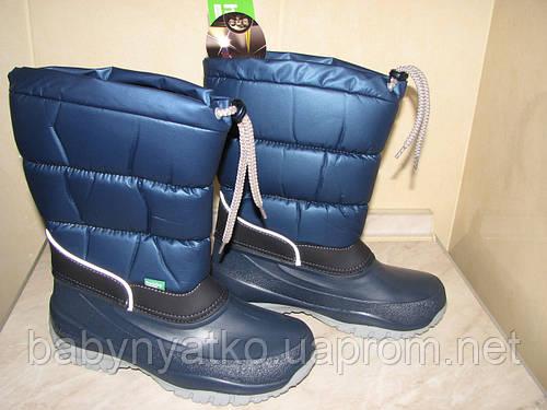 32225fab8 Сапоги-дутики на осень и зиму Demar Лакки синие р.39/40 обувь от ...