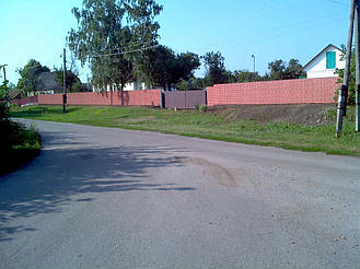 Забор из профнастила под кирпич (Киевская область) 1