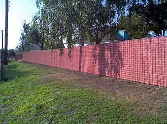 Забор из профнастила под кирпич (Киевская область) 2