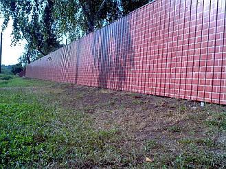 Забор из профнастила под кирпич (Киевская область) 6