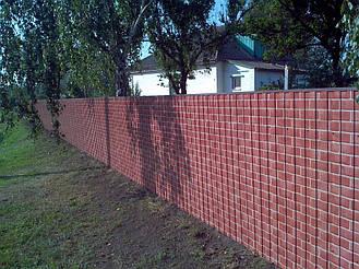 Забор из профнастила под кирпич (Киевская область) 7
