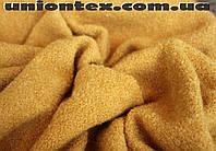 Пальтовая ткань букле желтая (Турция)