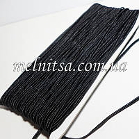 Шнур сутажный, цвет черный, шир. 3мм