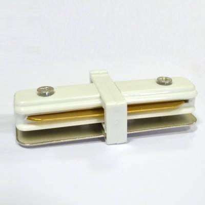 Соединитель для треков LED светильников l8-016 прямой (180*) однофазный 16A белый Код.57292, фото 2