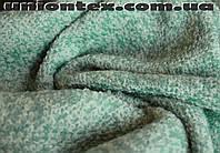 Пальтовая ткань букле бирюзовая (Турция)