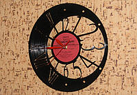 Часы настенные интерьерные на пластинке