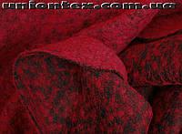 Пальтовая ткань букле красная (Турция)