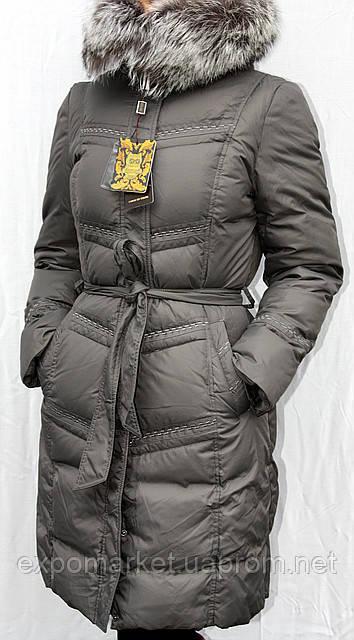 Пуховик женский с чернобуркой Snow Owl