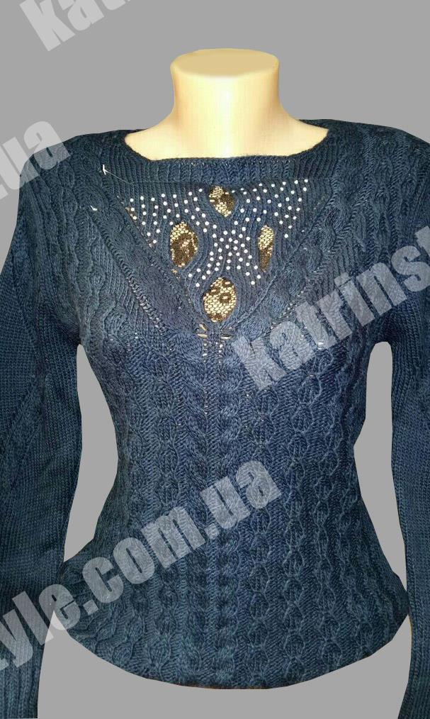 Модная женская кофточка красивой вязки