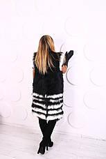 Женский жилет из натурального меха козы, фото 3