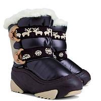 Детские зимние сапоги-дутики Demar (Демар) NOBY коричневыер.20--29 теплющие, есть опт