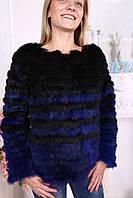 Женский полушубок - свитер из натурального меха кролика