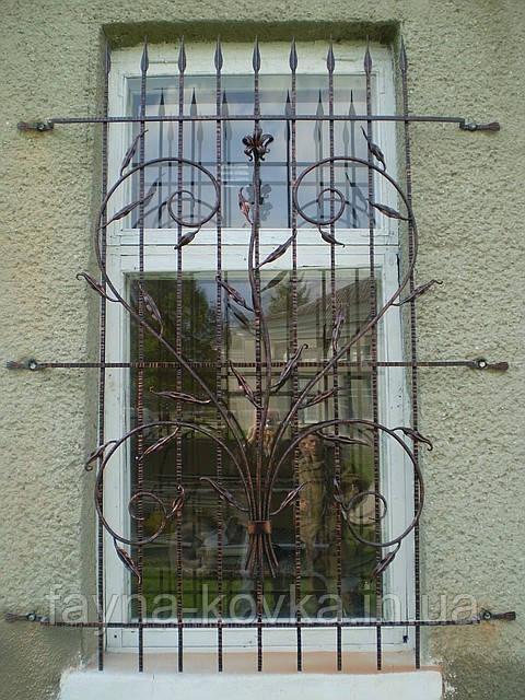 Кованные оконные решетки 1500
