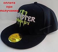 Мужская кепка, Snapback с прямым козырьком, бейсболка, реперка, Monster Energy