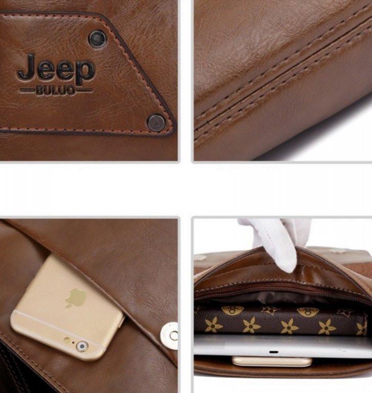 Кожаная сумка jeep