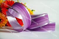 Флористическая лента фиолет 2см полосочка