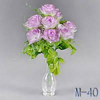 Роза раскрытая, лист дуба. М - 40/9