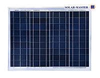 Солнечная поликристаллическая панель  50Вт, 12В.  Perlight Solar
